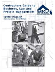 Contractors Guide to Business and Project Management for South Carolina Commercial Contractors. A great book for builders and contractors exam prep.