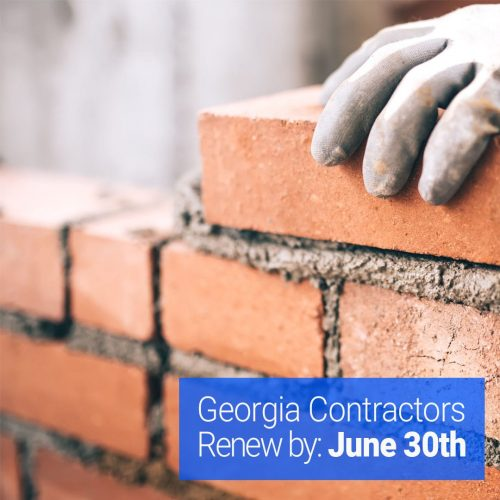 Bricks with text-Georgia contractors renew by June 30th